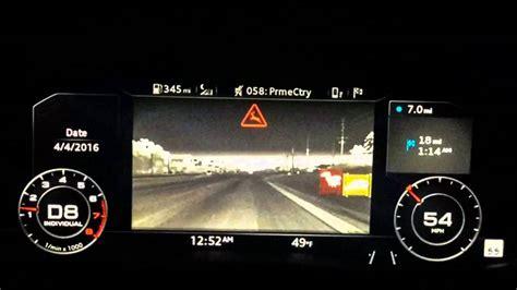 audi  night vision flir deer animal detection
