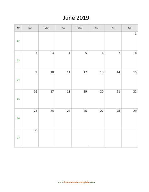 june calendar tempplate calendar templatecom