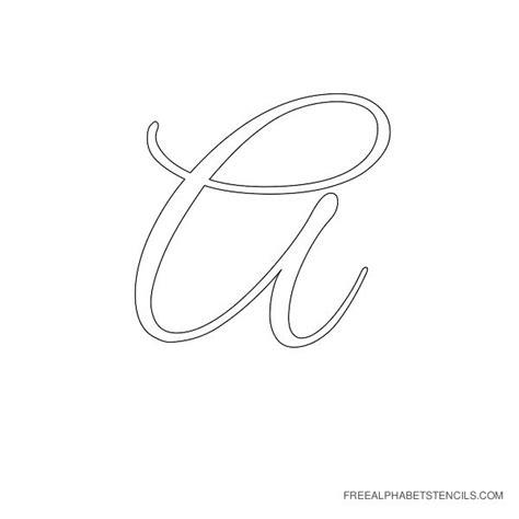 free letter stencils lоvеlу printable cursive letter alphabets alphabet 22179