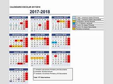 Calendario escolar para el curso 20172018 SUATEA