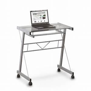 Pc tisch schreibtisch buro glas arbeitszimmer laptop for Glas pc tisch