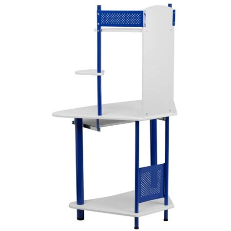 buy desk with hutch flash furniture blue corner computer desk with hutch buy