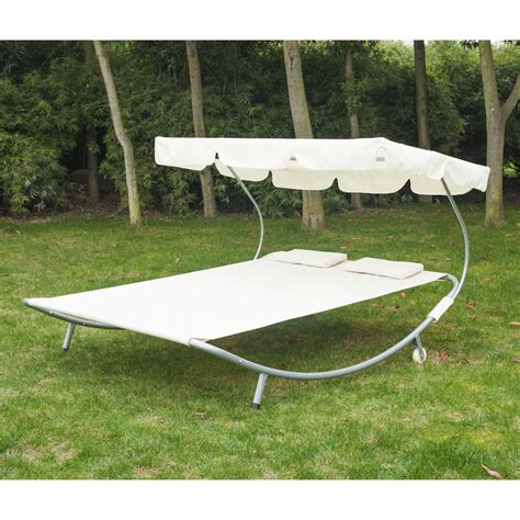 Two Person Hammock Cing by Outdoor Patio Wide Hammock Bed Sun Lounger W Sun
