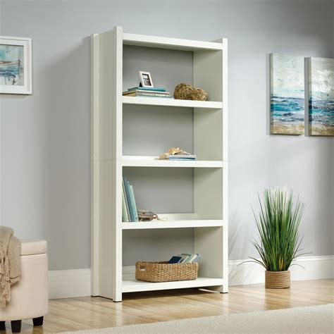 Open Bookcase White by Homevisions White 4 Shelf Open Bookcase 425043 The Home