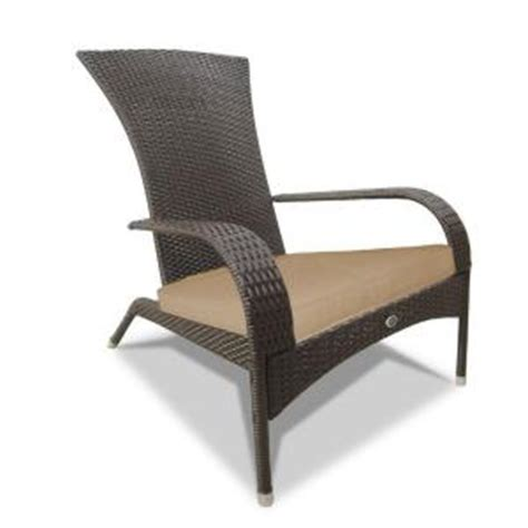 resin wicker chairs home depot patio flare wicker adirondack patio chair pf ch200 cr
