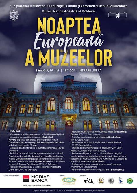 Ce activități și evenimente vor avea loc la Noaptea Europeană a Muzeelor 2018