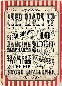 Vintage Circus Carnival Posters/Signs