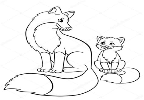 baby fox coloring pages and baby fox coloring coloring pages