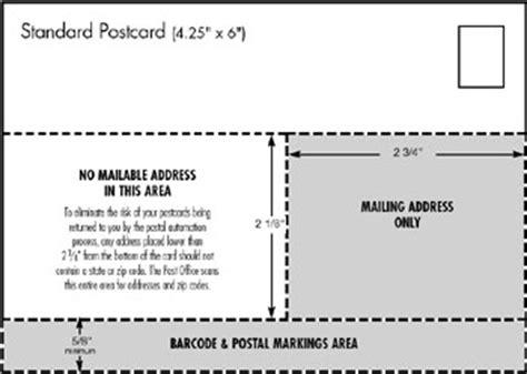 Standard Us Postcard Sizes Arts Arts Design Projects Preparing Postcard Promotions