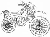 Motocross Coloring Transportation Kb Drawing sketch template