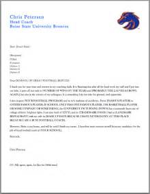 Football Coach Recommendation Letter Samples