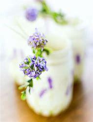 Mason Jar with Lavender Flowers
