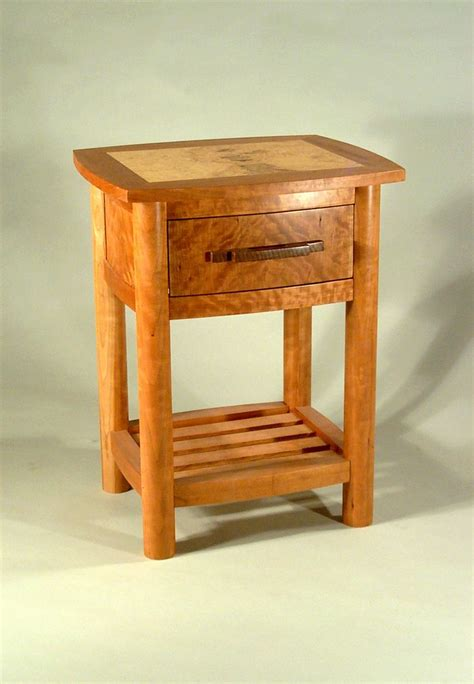 Curved Nightstand made curved nightstand by tom mcfadden furniture