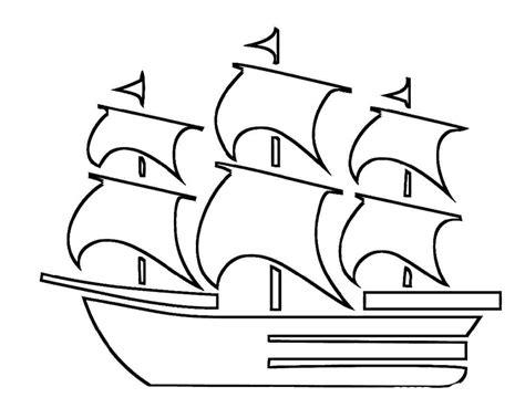 Mayflower Ship Coloring Page - Democraciaejustica