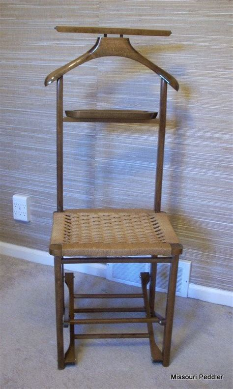 vintage s valet butler chair folding wood chair