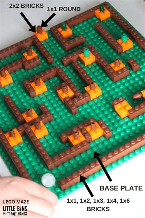 pumpkin patch lego maze fall stem activity  kids