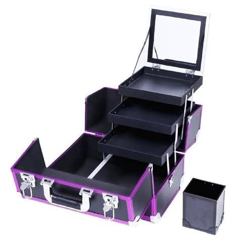malette 192 maquillage avec un miroir et 3 tiroirs et un compartiment particulier de