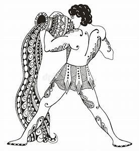 Sternzeichen Wassermann Mann : sternzeichen wassermann junger mann mit gro en amphoren wasser outp vektor abbildung ~ Markanthonyermac.com Haus und Dekorationen