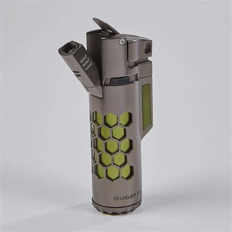 This stylish, attractive piece comes in all kinds of colors and will catch your attention in more. Bugatti Mirage Dual Torch Lighter - CIGAR.com