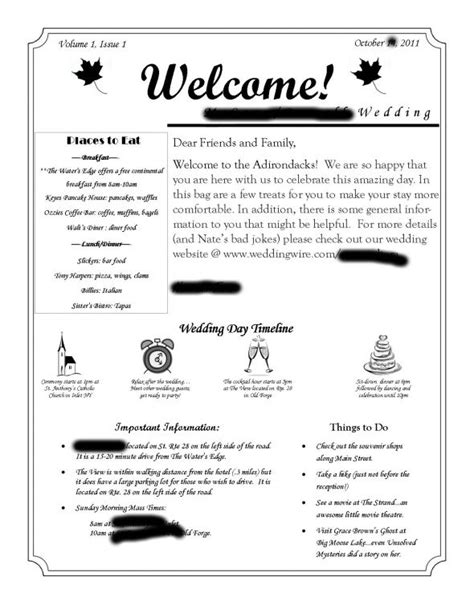 wedding welcome letter template welcome letter for out of town guests wedding wedding welcome bags and timeline