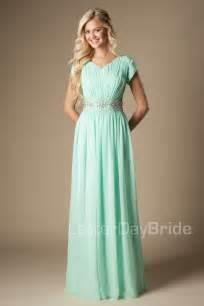 cap sleeve bridesmaid dresses floor length mint chiffon maxi formal floor length modest bridesmaid dresses with cap sleeves beaded