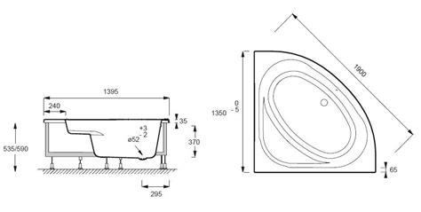 destockage de cuisine baignoire d 39 angle domo 135x135 acrylique avec châssis autoportant blanc jacob delafon réf