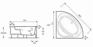 Baignoire D Angle 135x135 : baignoire d 39 angle domo 135x135 acrylique avec ch ssis ~ Edinachiropracticcenter.com Idées de Décoration