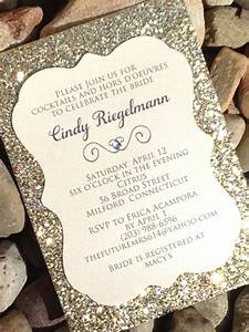 bridal shower invitation glitter bridal shower invitations With diy wedding invitations with glitter