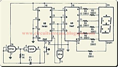Tica Tak Electronic Dice Circuit Diagram