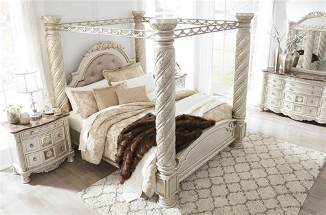 cassimore canopy bedroom set  signature design  ashley
