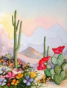 Desert Deva - Southwest Art Print Saguaro and Blooming ...