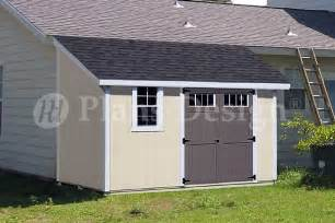 10 x 12 classic storage shed plans lean to d1012l