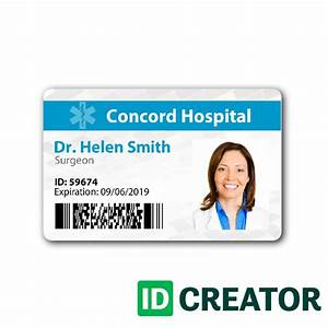 dr name tag template - doctor id badge same day shipping from idcreator