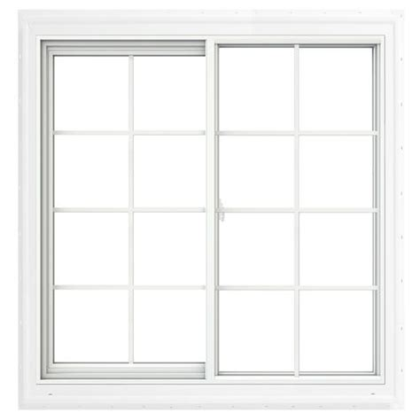jeld wen 174 vinyl sliding window with brickmould and grilles