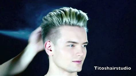 swedish model gustav  hair cut  color