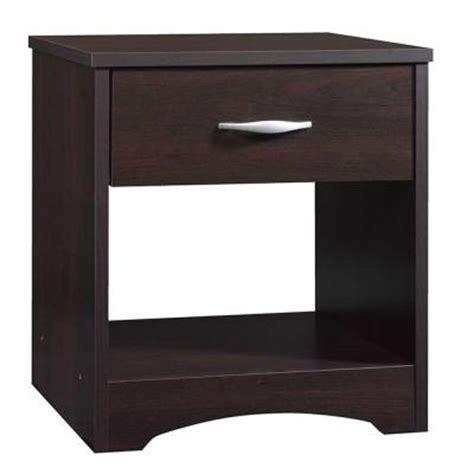 sauder beginnings 4 drawer dresser cinnamon cherry sauder beginnings collection 1 drawer nightstand in