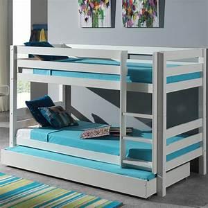 Lit Enfant Superposé : lit enfant superpos tiroir de lit pino blanc ~ Melissatoandfro.com Idées de Décoration