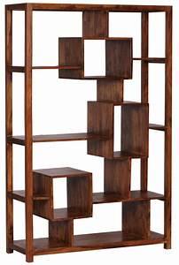 Bücherregal Holz Massiv : wohnling b cherregal massiv holz sheesham 115 x 180 cm wohnzimmer regal ablagef cher design ~ Markanthonyermac.com Haus und Dekorationen