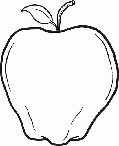 Apple Coloring Pages Printable Core Drawing Apples