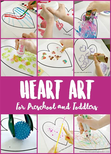 for preschool and toddlers the educators spin 285 | Heart art for preschool and toddlers