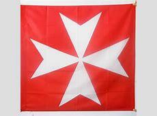 Drapeau Croix Ordre de Malte 90x90cm SaintJean de