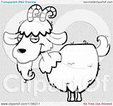 Goat Beard Clipart Horns Coloring Cartoon Outlined Vector Illustration sketch template