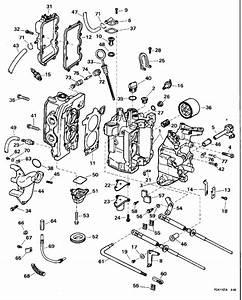 Johnson Cylinder  U0026 Crankcase Parts For 1995 15hp J15freoc