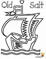 Ship Pirate Coloring Pages Pirates Barquentine Boys Yescoloring Seas Printout sketch template