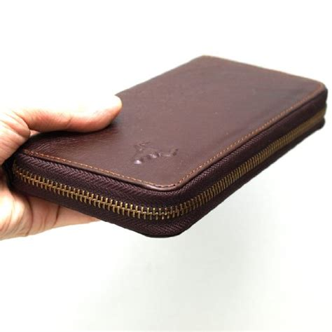 leather ziparound business long checkbook mens wallet