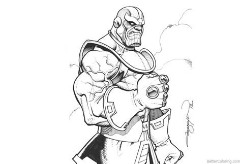 Avengers Infinity War Coloring Pages Thanos By George