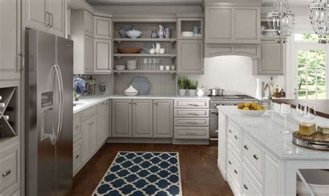 lowes medallion cabinets wall  base cabinetry shown