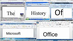 The History of Microsoft Office - YouTube