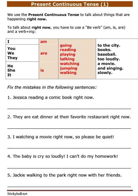 ESL Grammar: Present Continuous Tense (1)