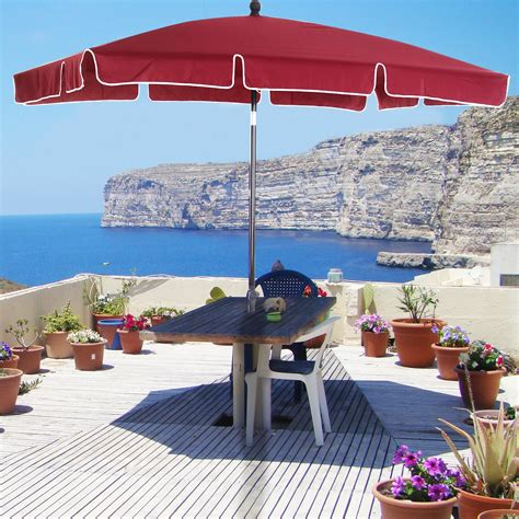 Outsunny Sombrilla Grande Parasol Reclinable 2 35m